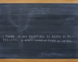 Jumaldi Alfi, Blackboard Painting, Footnote #1, 2012, acrilyc on canvas, 175x250cm