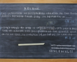 Jumaldi Alfi, Blackboard Painting, Footnote #2, 2012, acrilyc on canvas, 175x250cm