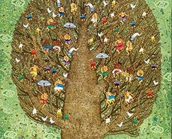 Made Gunawan, Tree of Life, 2018, akrilik diatas kanvas, 150x130cm