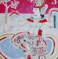 Teja Astawa, Raja, 2013, akrilik diatas kanvas,145x115cm