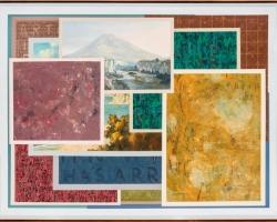 Jumaldi Alfi, Melting Memories, Collage painting #11, acrylic di linen, 190 x 250 cm