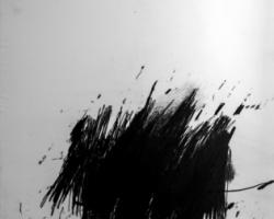 Douglas Diaz, Forgetting Who I Think I am, 2017, graphite on canvas, 220 x 150 cm