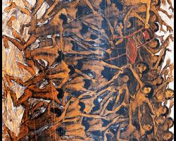 Berebut Kesunyian, 2017. akrilik diatas kanvas. 190 x 280cm