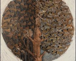 Pohon kehidupan, 2017, akrilik diatas kanvas. 120 x 140cm
