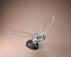 Edwin Rahardjo, Floating Fleets, 2011, aluminum dural, carbon fiber, metal, motor, and processor, variable dimension