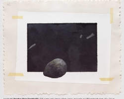 Jumaldi Alfi, Sisyphus Sleep Tonight #02, screen print, stencil, collage, crayon and acrylic on STPI handmade paper, 101x127cm (1)