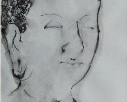 Putu Sutawijaya, Kisah Dari Mendut #2, 2012, ink on paper, 41 x 29 cm (1)